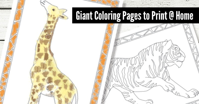- Jumbo Coloring Pages {Free Kids Printables} - Giant Fun You Can Print