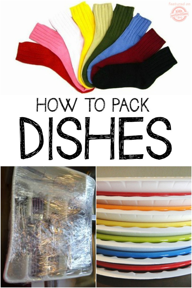 packing dishes moving