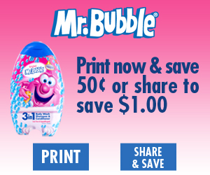 Mr Bubble Coupon