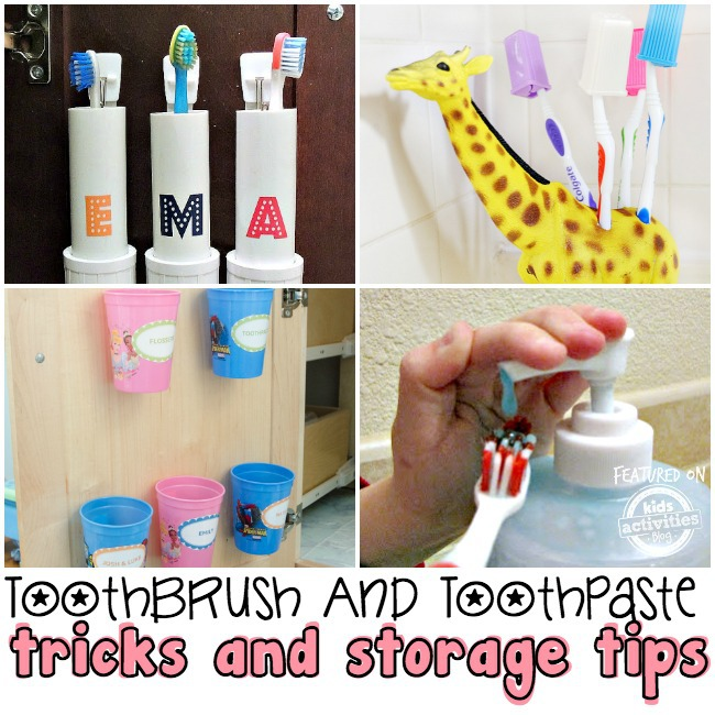 toothbrush and toothpaste tricks and storage tips