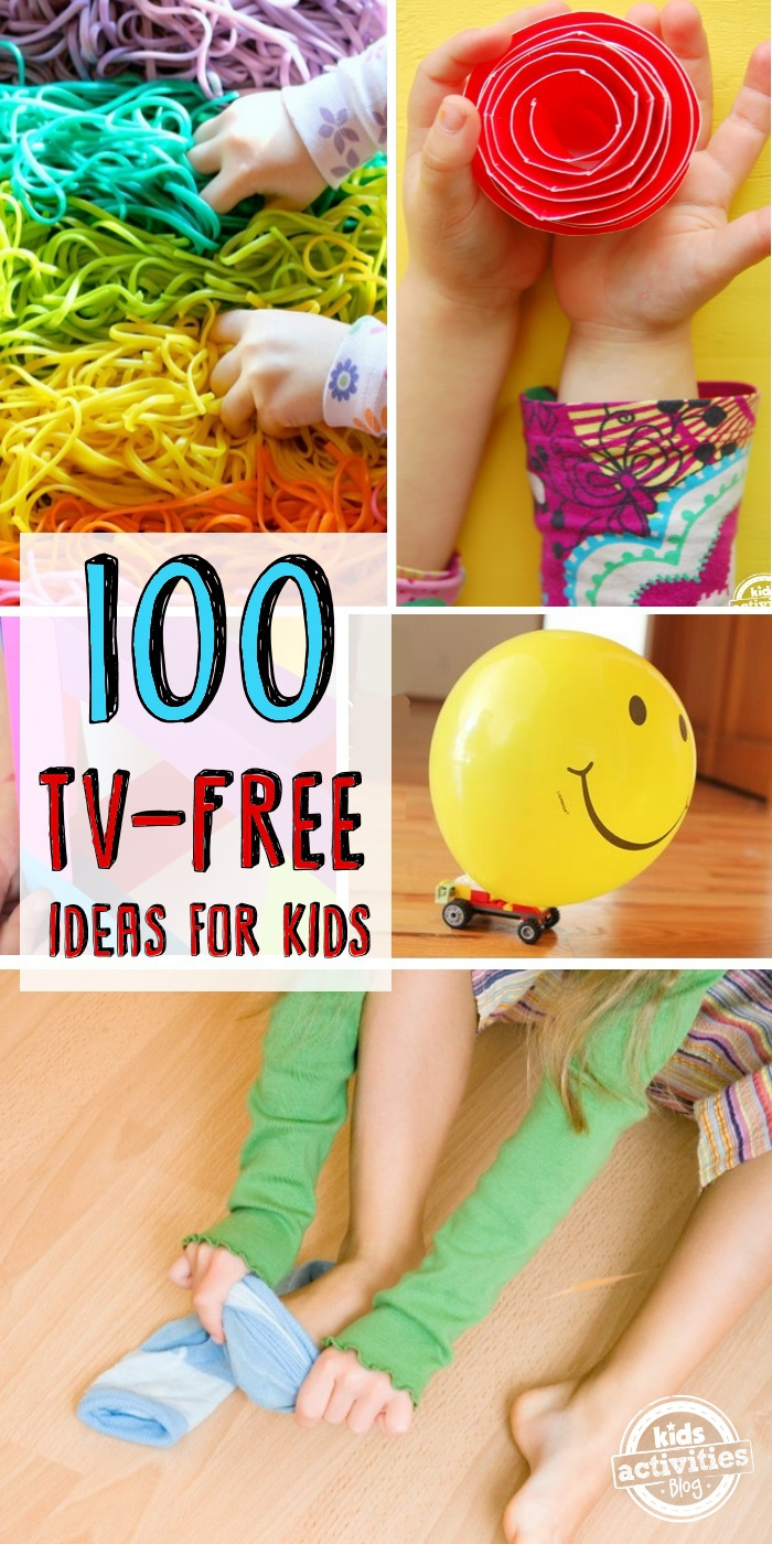 100 tv free activities for kids