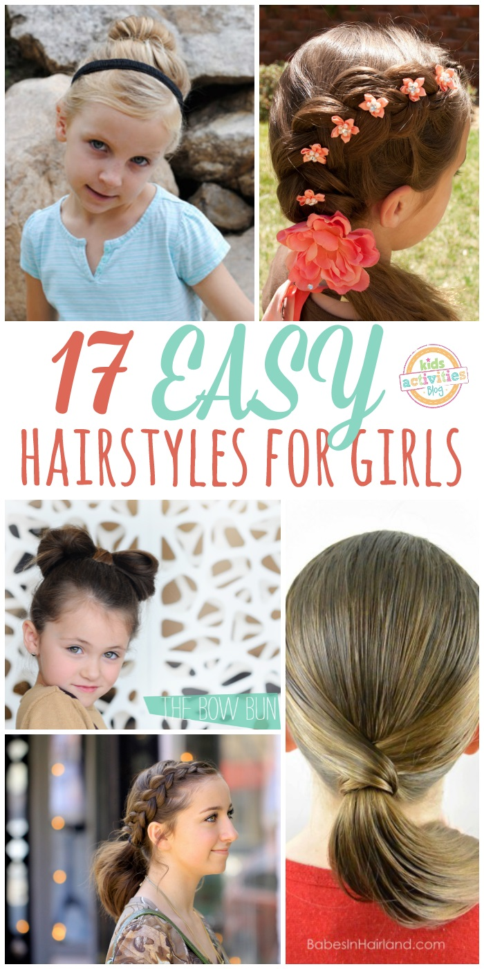 Lazy Hairstyles for Girls - 17 Easy Hair Style Girls