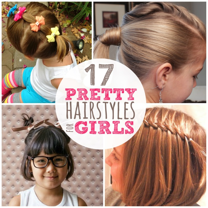 Pretty girls hairstyles that are easy to do at home