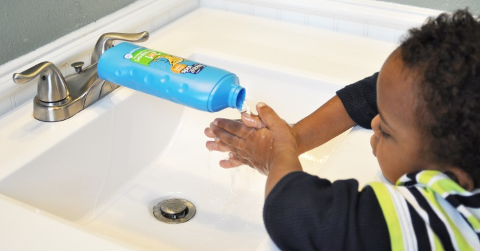 kids sink hack to make the faucet extended so kids can wash their hands