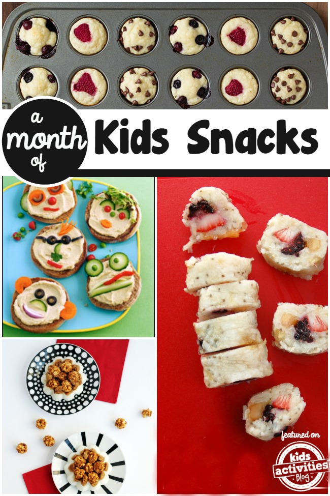 a month of kids snacks
