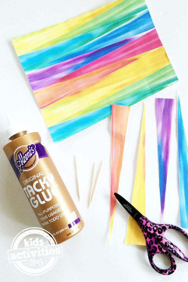 Make Rainbow Paper Beads - supplies you need