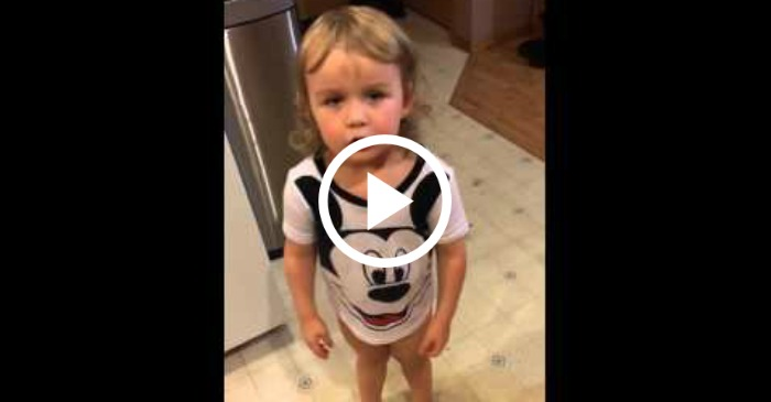 toddler mad over missing soda