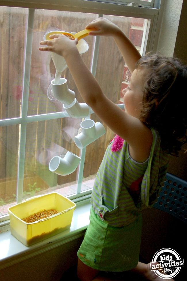 Make a PVC Pipe Discovery Wall for Hours of Play