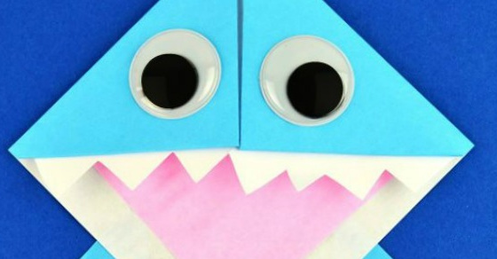 Shark Cootie Catcher - Origami for Kids - Easy Peasy and Fun | 292x560