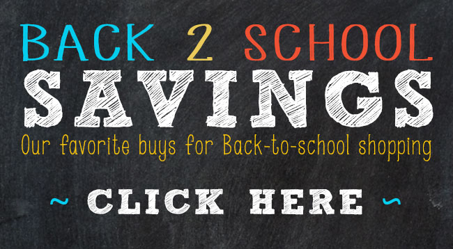 Save on Back to School