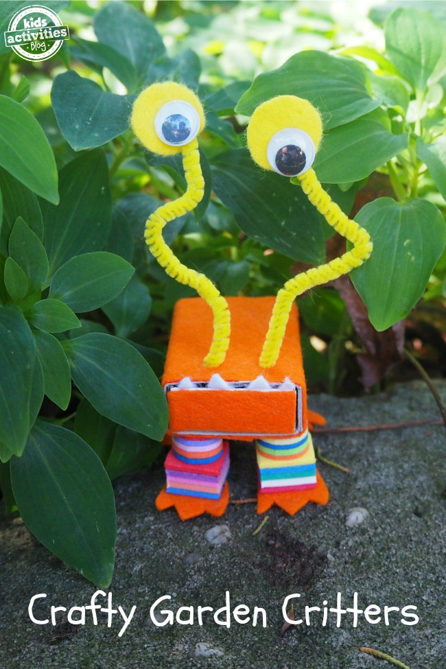Crafty Garden Critters to make with the Kids