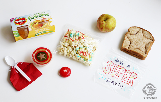Make a superhero sandwich and put them in an avengers sandwich bag.