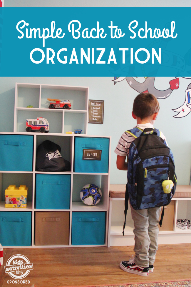 simple back to school organization