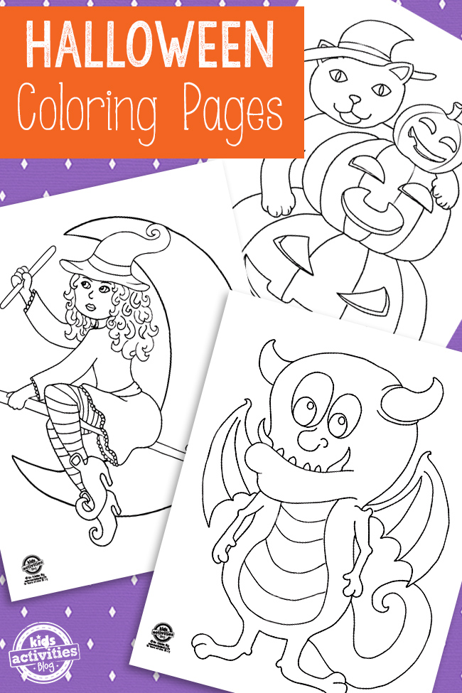 Free Printable Halloween Coloring Pages - Kids Activities Blog