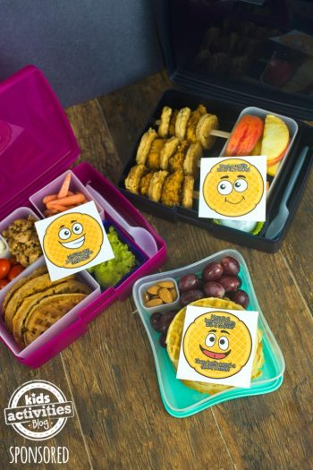Healthy Kids Lunchbox Ideas with Waffles