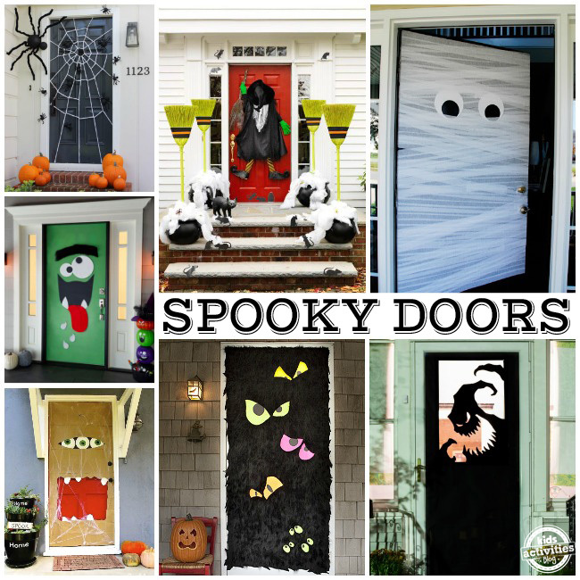 Spooky Doors which make great ideas for decorating front doors