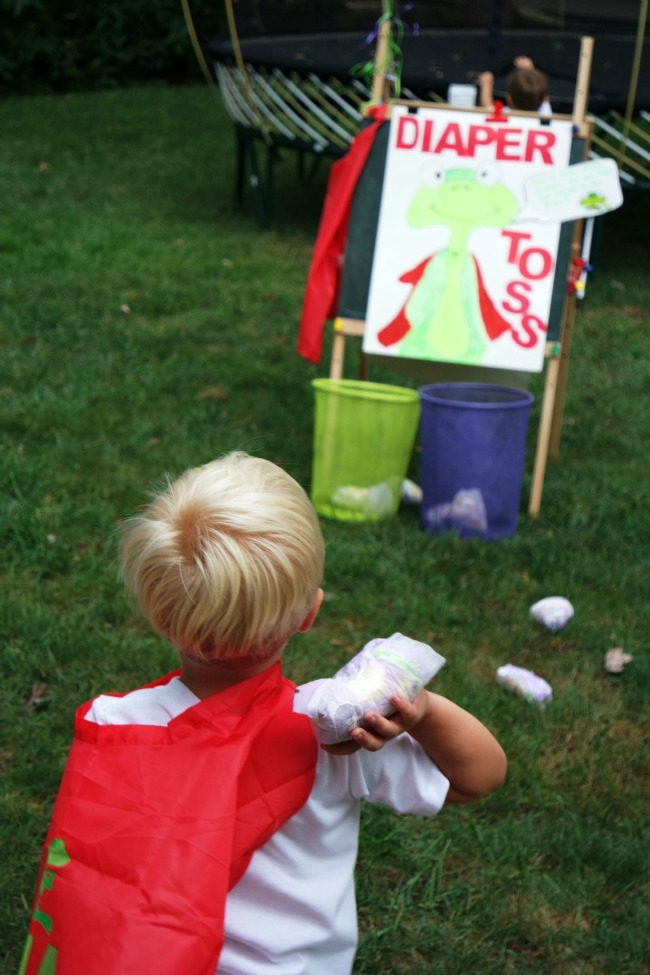 diaper toss at potty training party
