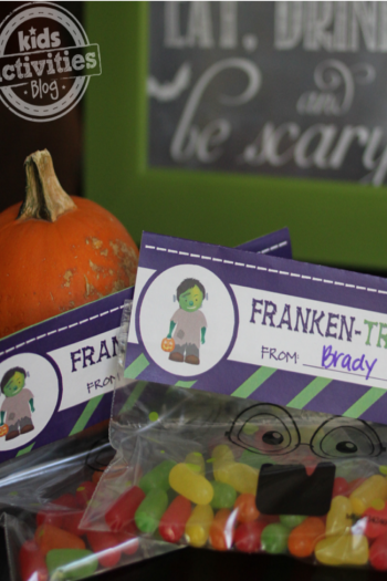 Everyone Will Love This Halloween Franken Treat Bag Printable