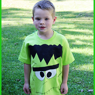How To Make A Frighteningly Cute Frankenstein Shirt