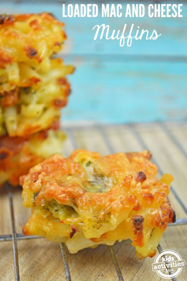 loaded mac and cheese muffins
