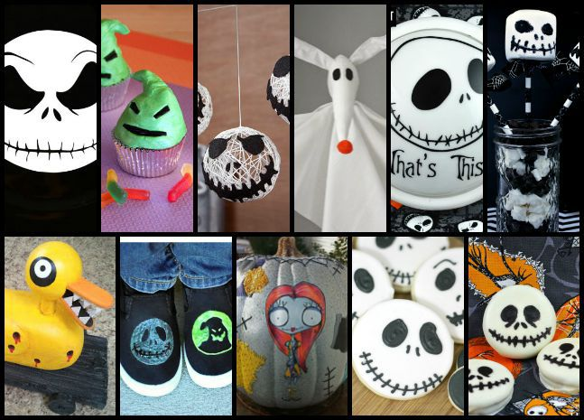 These crafts are super cute and is Nightmare Before Christmas themed
