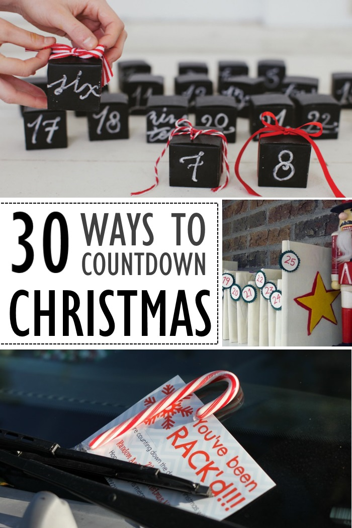 Countdown to Christmas - ways to mark the time until December 25