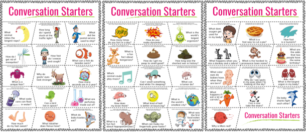 Printable Fun Facts of the Day Cards - Overview - Printable version of random facts for kids that can be used as conversation starters of printable fun fact of the day cards