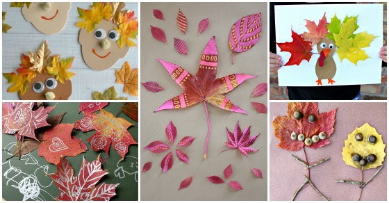 40 Thanksgiving Activities for 5 Year Olds- Here are 30 Fun and Festive Fall Leaf Crafts such as painting leaves and making leaf people with acorns.