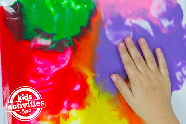No Mess Finger Painting
