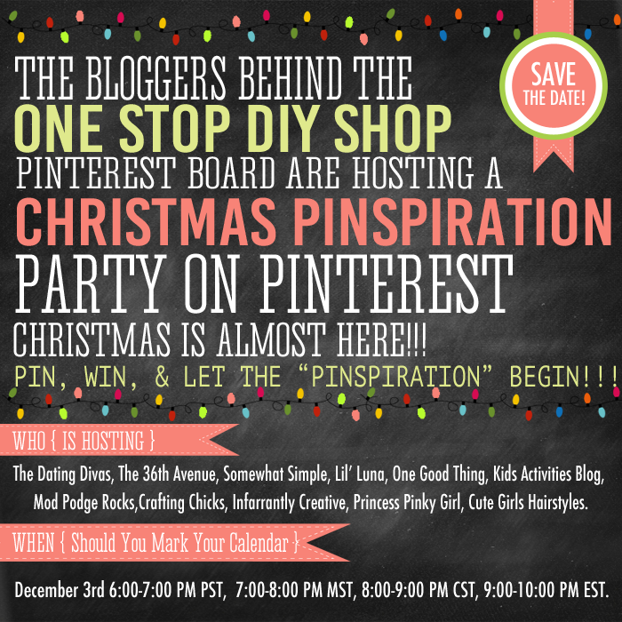 Party on Pinterest- SAVE THE DATE