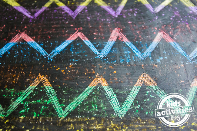 Rainbow Scratch Art