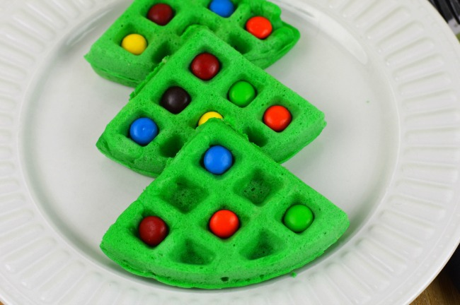 christmas tree waffles step4