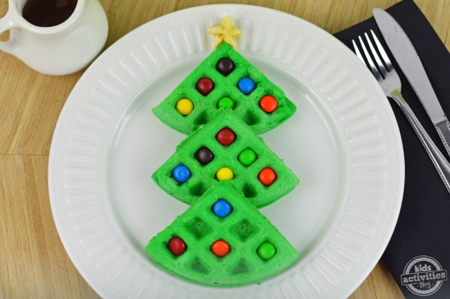 christmas tree waffles2