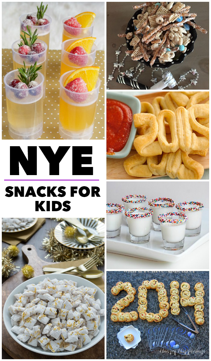 15 New Years Eve Snacks for Kids - Party photos from Family NYE Parties