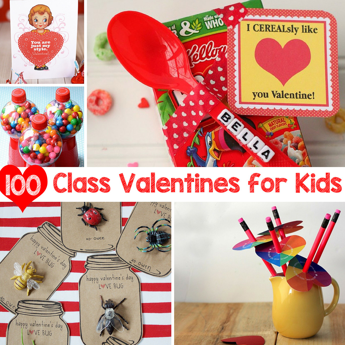 100 Class Valentines for Kids