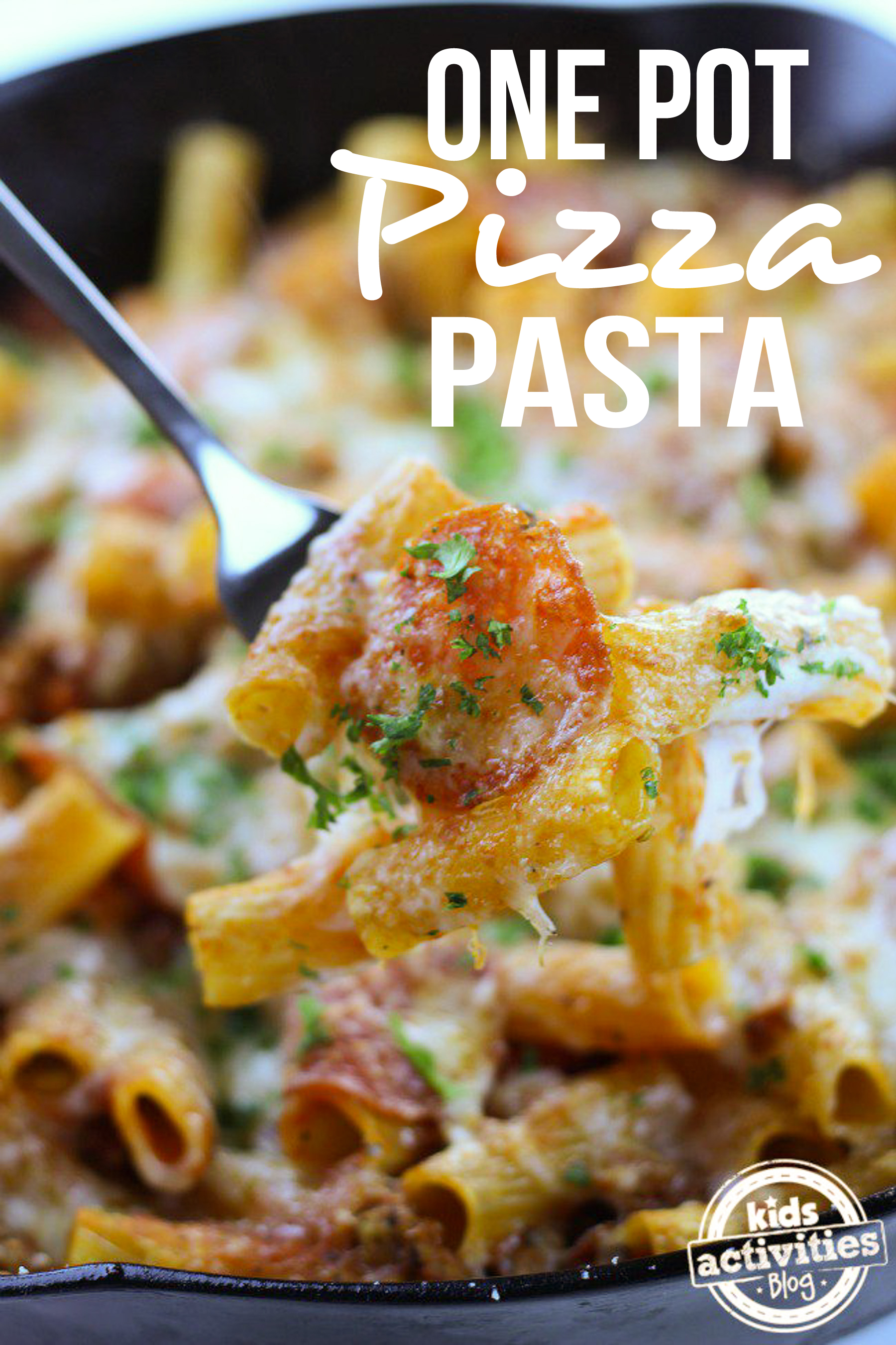 One Pot Pizza Pasta for Kids