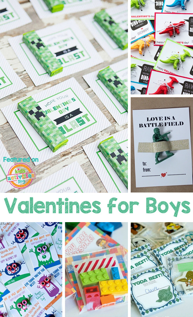 Valentines for Boys for School