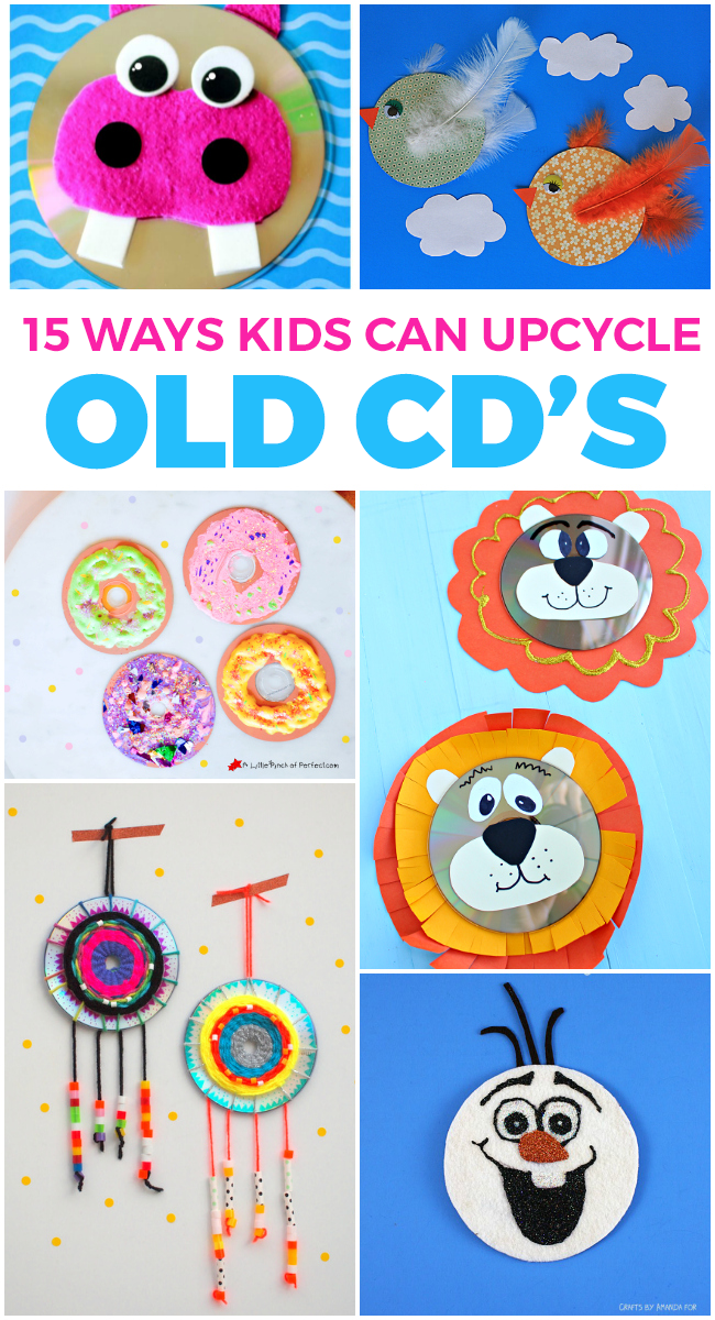 15 Fun Ways Kids Can Upcycle Old CD's