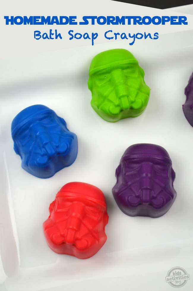 Homemade Stormtrooper Bath Soap Crayons