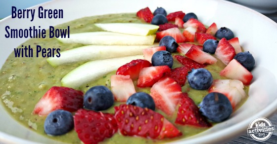 Kale packs a ton of nutrition, but if green smoothies aren't your thing, try this Berry Green Smoothie Bowl with Pears.