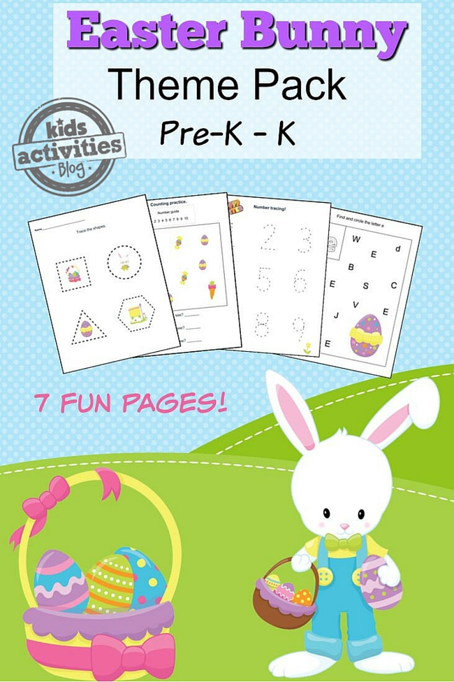 Super Cute Easter Activity Worksheets -- Perfect For Preschoolers!