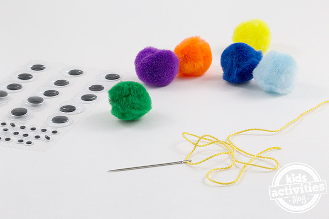 How to Make Pom Pom Caterpillars