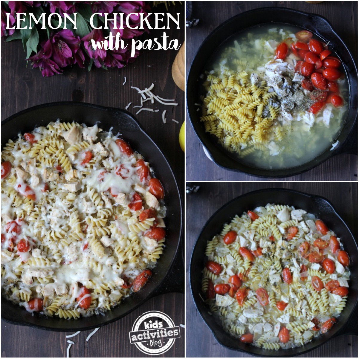 Lemon Chicken With Pasta