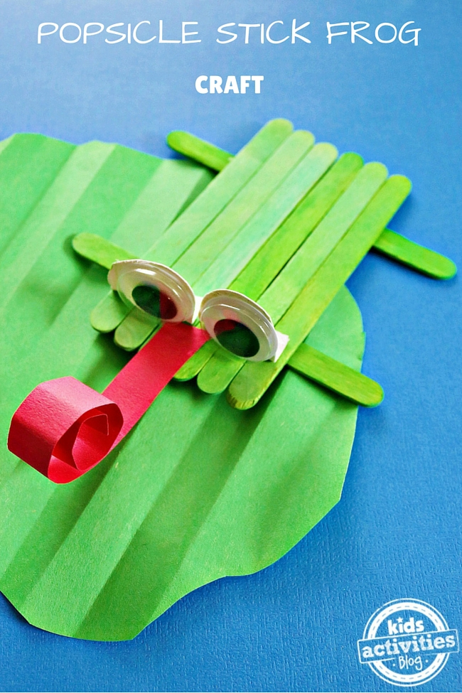 POPSICLE STICK FROG CRAFT