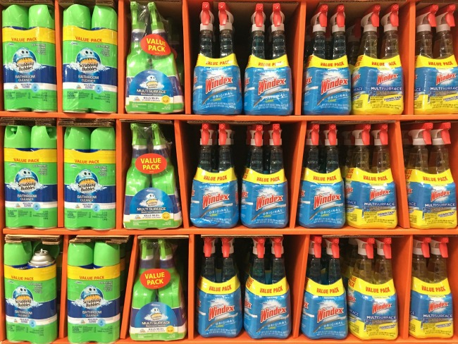 Walmart SCJ cleaning products