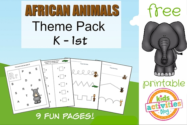 animals printable kindergarten worksheet