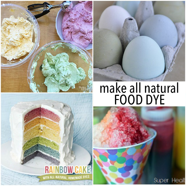 How to make natural food coloring for frosting, eggs, cake, and snow cones using homemade food dye.