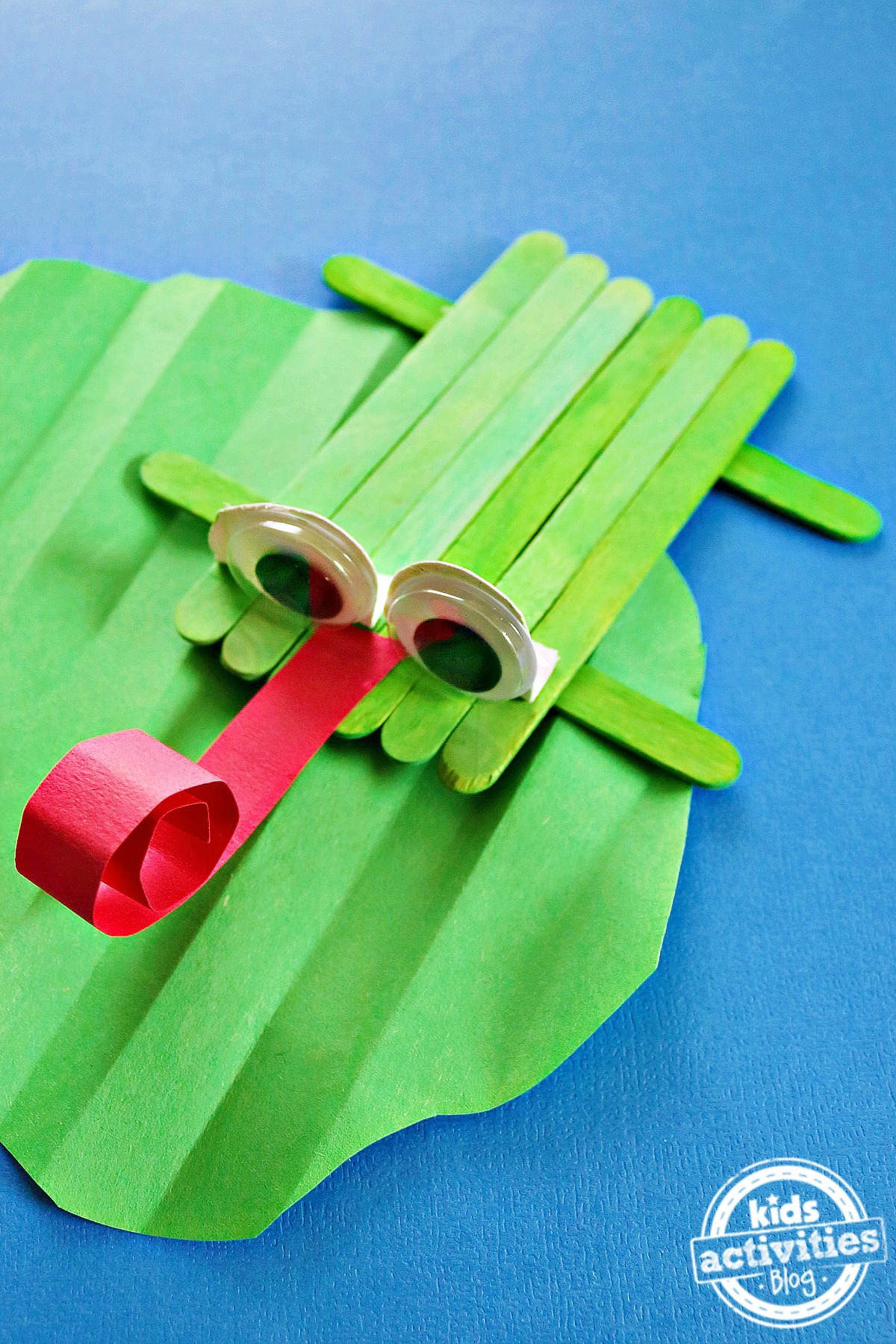 Craft Stick Frog