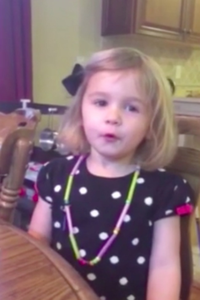 Adorable Little Girl Attempts To Whistle, Can't Believe She's Doing It Wrong