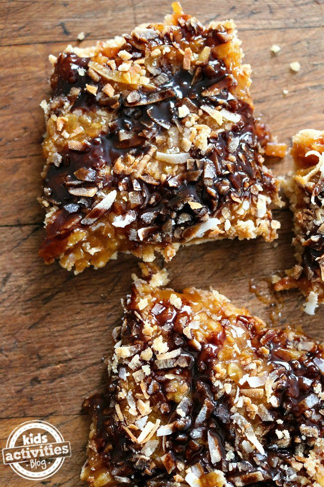 Samoas Style Butter Cookie Bars